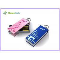 Buy cheap Mini Pink Twist USB Sticks , Logo Laser Engraved Gifts USB Sticks from wholesalers