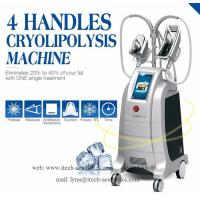 Buy cheap Innovative Cryolipolysis Freeze Fat Reduction, 4 Handles Work Simultaneously Cryotherapy Fat Freezing Machine from wholesalers