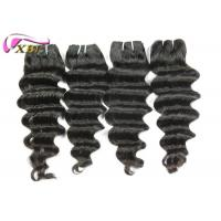 Raw Thick End Brazilian Human Hair  Extensions , Loose Deep Wave One Donor Human Hair Weave Bundles