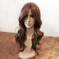 Buy cheap Glueless Natural Curly Lace Front Wigs Human Hair Dark Brown 20 Inch from wholesalers