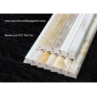 Buy cheap Solid Marble Effect Tile Corner Trim / 12mm Inside Height Quarter Round Tile Trim from wholesalers