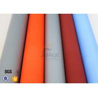 Buy cheap PU Silicone Coated Glass Fabric 280G 590G Abrasion Resistant Fire Blanket from wholesalers