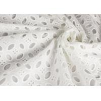 Buy cheap Heavy Vintage Eyelet 100% Cotton Lace Fabric Wholesale By The Yard from wholesalers