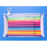 Buy cheap Clear Vinyl PVC Reusable Ziplock Bags Zip-lock Stationery Bags Clear Students PVC Pencil Case from wholesalers