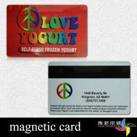 Buy cheap CMYK Travell PVC Magnetic Stripe Cards With Gold Hot Stamping from wholesalers
