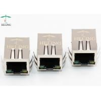 Buy cheap EMI Gasket 1000Base T RJ45 Integrated Magnetics , Shielded RJ45 T Connector With LED from wholesalers