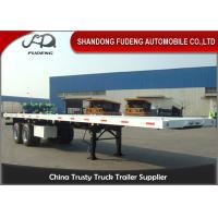 Buy cheap Custom Made Truck Flatbed Trailers Double Axles Mechanical / Air Suspension from wholesalers