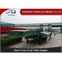 China Heavy Duty Truck transportation 80 ton Lowbed Semi Trailer Trucks And Trailers on sale