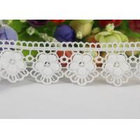 Buy cheap Water Soluble Chemical Polyester lace ribbon trim For Gilr Dress Vintage Off White from wholesalers