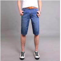 Buy cheap Blue short Mid Waisted Jeans for man from wholesalers
