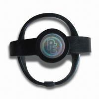 Buy cheap Silicone Energy Wristbands with Visible Holograms, Customed Logo Accepted, Other product
