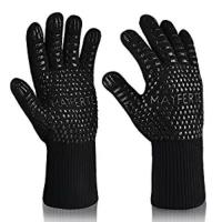 Buy cheap Custom Logo Black Aramid Barbeque Oven Mitts, OEM 932F Extreme Heat Resistant BBQ Grill Gloves For Kitchen Cooking from wholesalers