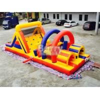 Buy cheap Interactive Challenge Kids Adult Inflatable Obstacle Course Bounce House Rentals from wholesalers