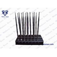 Buy cheap 14 Antennas Powerful Mobile Phone Blocker , Remote Control Cell Phone Signal Jammer product