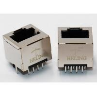 Buy cheap THT / DIP Mounting Vertical RJ45 Jack , RJ45 Ethernet Adapter Tab Up Latch Directioin from wholesalers