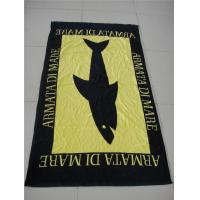 Buy cheap 100% cotton velour reactive beach towel from wholesalers