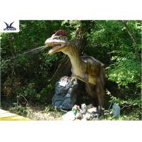 Buy cheap Water Park / City Center Realistic Dinosaur Statues With Anti - Rust Steel Frame from wholesalers