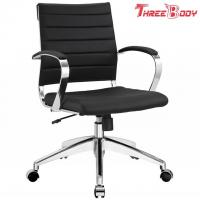 Buy cheap Mid Back Executive Office Chair , Comfortable Black Leather Office Chair from wholesalers