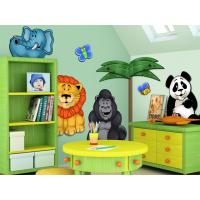 Buy cheap eco-friend animal wall stickers for children with fastness gule from wholesalers