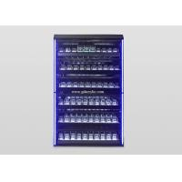 Buy cheap Customized Illuminated Led Lighting Metal Large Cigar Display Cabinet from wholesalers