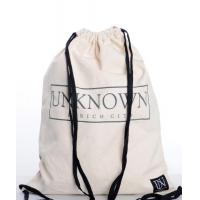 Buy cheap 100% Cotton Drawstring Bags Reusable Featuring With Zippered Back Pocket from wholesalers