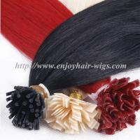 Buy cheap Nail Tip Hair extension 10-28 100s/pack all color Straight Human Hair indian remy hair from wholesalers