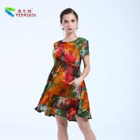 Buy cheap Embroidery Floral Womens Midi Dress , Cotton Midi Summer Dress Latest Patterns product