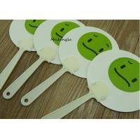 Buy cheap Durable Expression face PP Hand Fan Plastic Sticks Advertising Customised Logo Printed product