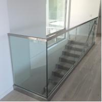 Buy cheap aluminum u channel home depot frameless glass railing balustrade from wholesalers