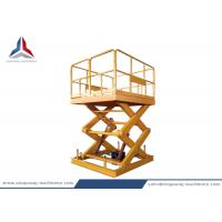 Buy cheap Stationary Hydraulic Scissor Lift Table with 2000kg Capacity from wholesalers