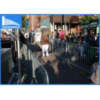 Buy cheap Removable Temporary Security Fence , Road Safety Barriers Silver Painted from wholesalers