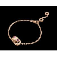 Buy cheap BVLGARI BVLGARI bracelet in 18 kt pink gold with amethysts and pink tourmalines from wholesalers