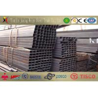 Buy cheap ASTM A53 ST52 Seamless Square Steel Tubes Black Painted For Chemical Engineering product