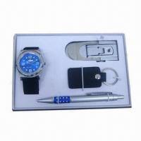 Buy cheap Men's Watch Gift Set with Pen and Keychain from wholesalers