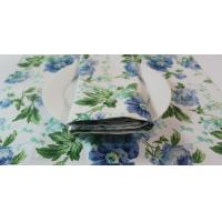 Buy cheap Elegance Flower Printed Square 45x30cm Dining Table Mats for Barbecuing / Baking from wholesalers