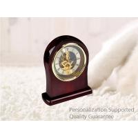 Buy cheap Luxury Rich Cherry High  Gloss Hardwood Home Decoration Desktop Table Clock, Small Order, Quality Guarantee product