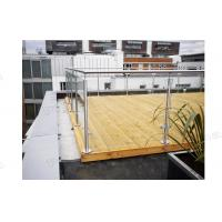 Buy cheap Factory Balcony Stainless Steel Post Glass Panel Railing is On Hot Selling! from wholesalers