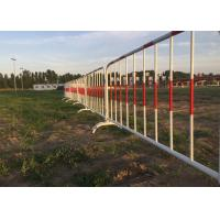 Buy cheap Crowd Control Barriers I Hot Galvanized Steel Construction Barricades product