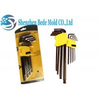 Buy cheap Cr-Mo Steel Ball End Hex Key Screwdriver Hex Spanner Inch / Metric Extended Length from wholesalers