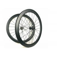 Hand - Built Carbon Racing Bike Wheels , 50MM Carbon Rear Wheel 700c With Disc Brake