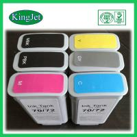 Buy cheap 130ml Replacement Pigment Ink Cartridges For HP72 HPT1100 , BK Y M Color from wholesalers