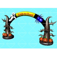 Buy cheap 6.9m Helloween Trick 420D Nylon Inflatable Archway With Air Blower product