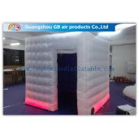 Buy cheap Colored Customized Inflatable Led Photo Booth Enclosure Rental With Internal Blower product