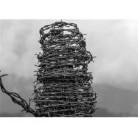 Buy cheap Electro Galvanized Security Barbed Wire Fence Residential Barbs Distance 7.5-15cm from wholesalers