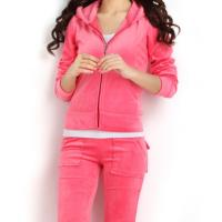 Buy cheap Customized hot sale brand quality solid color velour tracksuit sports wear women sweatsuit from wholesalers