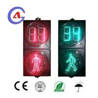 Buy cheap 200mm PC black housing 85-265V Pedesttrian Traffic Light with Bi-Color Countdown Timer from wholesalers