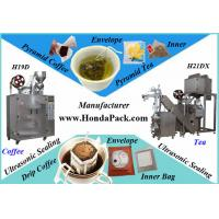 Buy cheap Ultrasonic Pyramid Tea Bag Packing Machine with outer Envelope with full line product