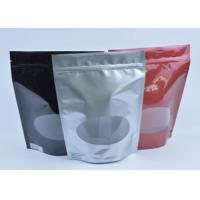 Buy cheap Tea / Coffee Beans Stand Up Aluminum Foil Packaging Bags With Clear Window product