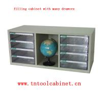 China plastic drawer file cabinet with many clear drawers on sale