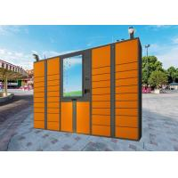 Buy cheap LCD Touch Screen Electric Parcel Delivery Lockers With Advertising Function from wholesalers